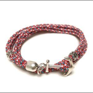 Men's Mikoni multi colour anchor bracelet